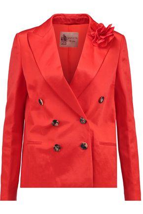 LANVIN Appliquéd linen-blend jacket