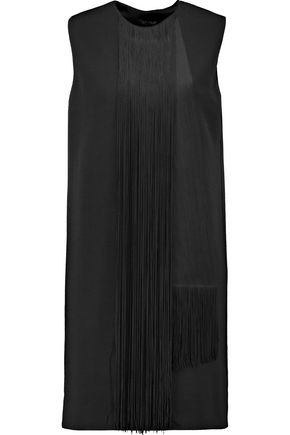 LANVIN Fringed wool-blend dress