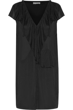 IRO Benelie ruffled crepe de chine mini dress