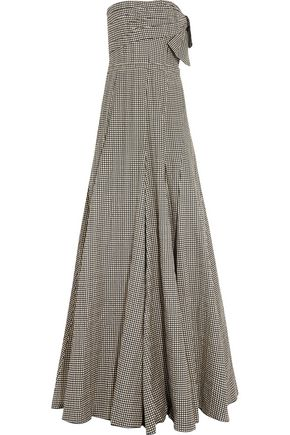 LANVIN Strapless polka-dot cotton-blend gown