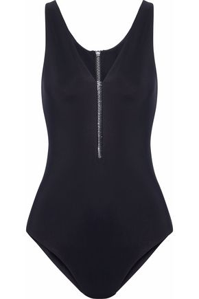 Pvc Trimmed Cutout Swimsuit by Alexander Wang