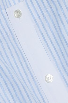 ALEXANDER WANG Bow-detailed striped cotton-poplin top
