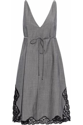 ALEXANDER WANG Lace-trimmed wool and mohair-blend dress