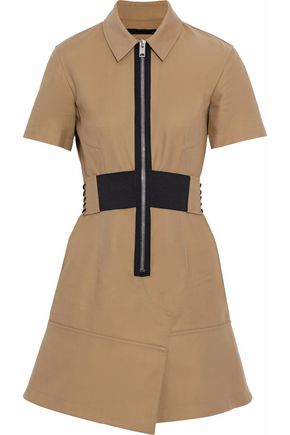 ALEXANDER WANG Belted cotton-twill mini dress