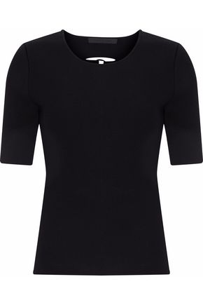 ALEXANDER WANG Lace-up back ribbed-knit top