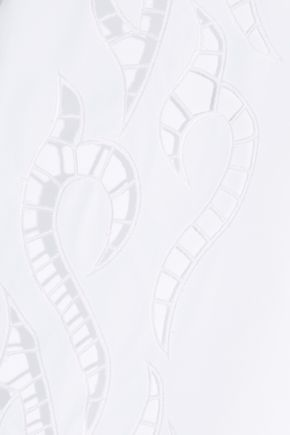 ALEXANDER WANG Cutout embroidered cotton-poplin shirt