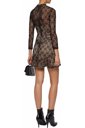 ALEXANDER WANG Embellished lace mini dress