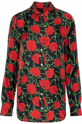 ALEXANDER WANG Floral-print twill top