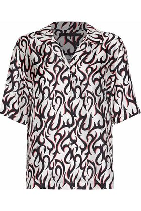 ALEXANDER WANG Printed silk-twill shirt
