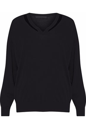ALEXANDER WANG Cutout merino wool sweater