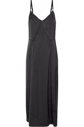 ALEXANDER WANG Satin-jacquard midi dress