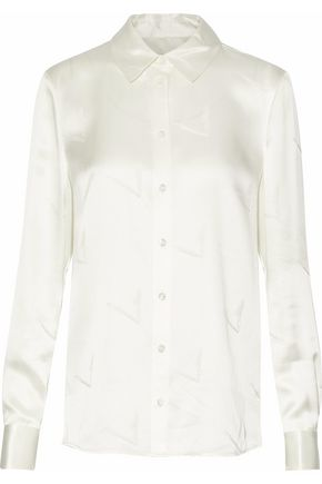ALEXANDER WANG Silk-satin shirt