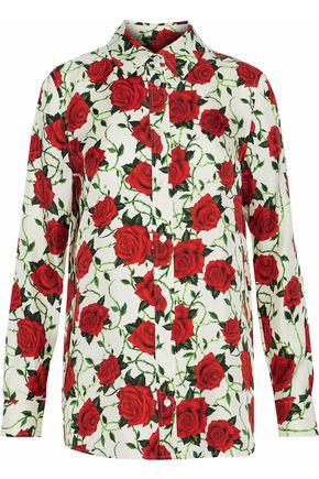 ALEXANDER WANG Floral-print silk-satin twill shirt