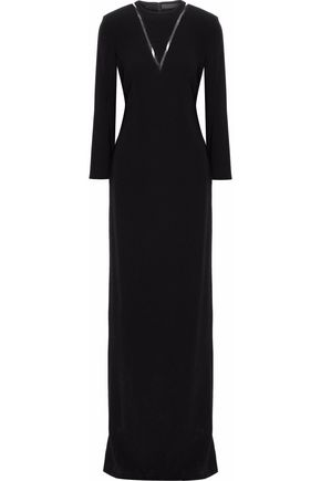 ALEXANDER WANG PVC-trimmed crepe gown