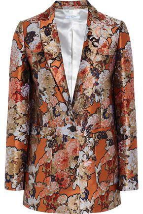 GIVENCHY Blazer in metallic floral-jacquard