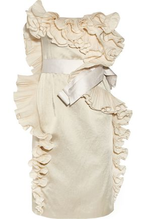 LANVIN Ruffled satin dress