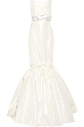 LANVIN Strapless faille gown