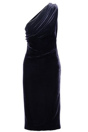 CUSHNIE ET OCHS One-shoulder cutout velvet dress
