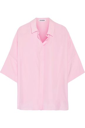 JIL SANDER Silk crepe de chine shirt