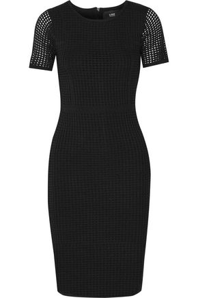 LINE Open-knit stretch-jersey dress