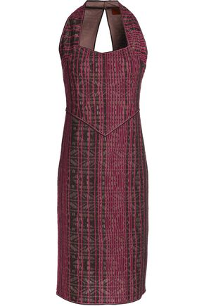 MISSONI Metallic crochet-knit wool-blend dress