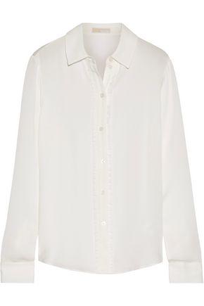 MICHAEL MICHAEL KORS Ruffle-trimmed silk crepe de chine shirt