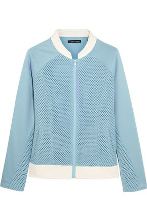 PERFECT MOMENT Honeycomb-mesh and jersey bomber jacket