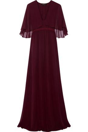 GIAMBATTISTA VALLI Cape-effect silk-georgette gown