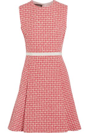 GIAMBATTISTA VALLI Pleated wool-blend tweed mini dress