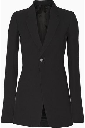 RICK OWENS Wool-blend crepe blazer