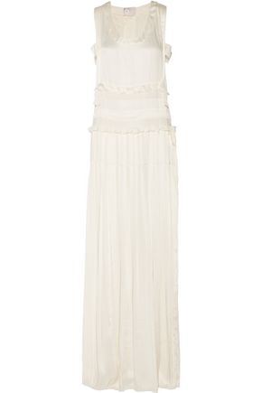 LANVIN Tiered satin column gown