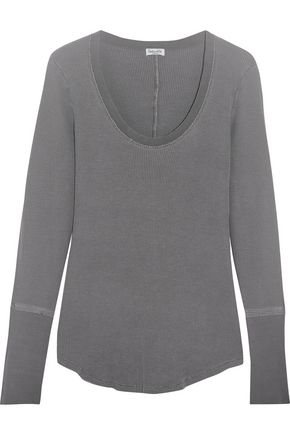 SPLENDID Nordic waffle-knit stretch Supima cotton and Micro Modal-blend top