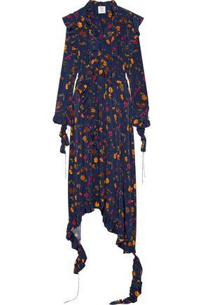 VETEMENTS Floral-print stretch-jersey midi dress