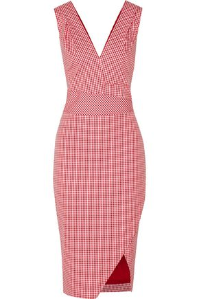 ALTUZARRA Elida gingham cotton-blend dress