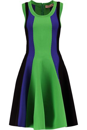 EMILIO PUCCI Striped stretch-knit dress