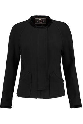 ETRO Velvet-trimmed crepe jacket