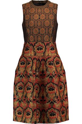 ETRO Paneled faille and jacquard dress
