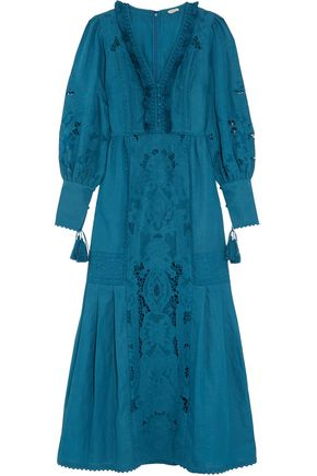 TALITHA Broderie anglaise cotton maxi dress