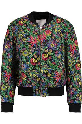 3.1 PHILLIP LIM Floral-print jacquard bomber jacket
