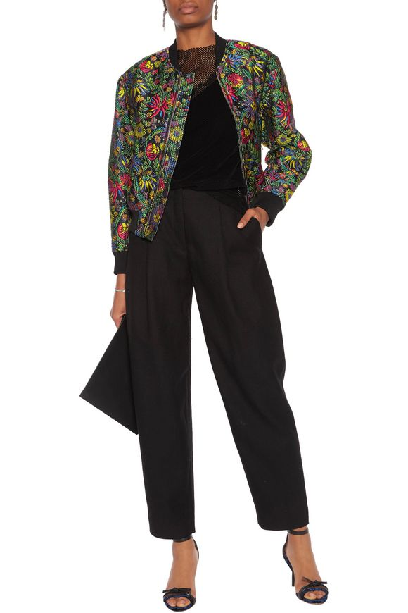 Floral-print jacquard bomber jacket   3.1 PHILLIP LIM   Sale up to 70% off    THE OUTNET