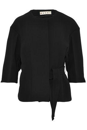 MARNI Belted crepe jacket