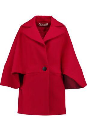 MARNI Cape-effect wool jacket