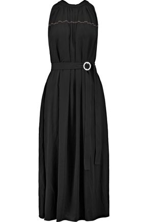 HELMUT LANG Belted cady midi dress