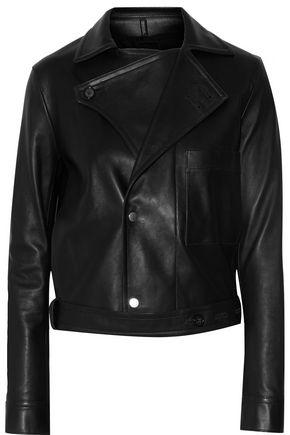 HELMUT LANG Belted leather biker jacket