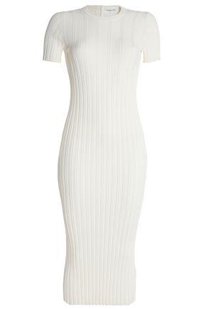 HELMUT LANG Ribbed-knit midi dress