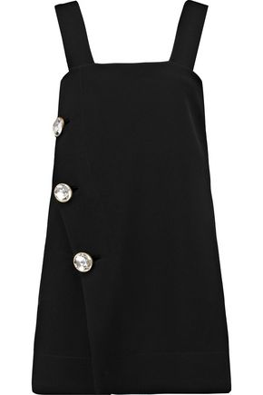 MARNI Button-embellished crepe mini dress
