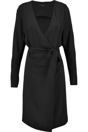 JOSEPH Hale wrap-effect crepe dress
