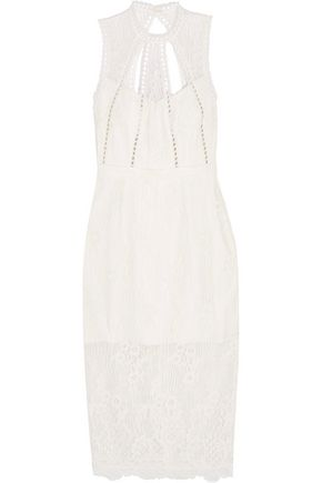 ALEXIS Oralie open-back guipure lace dress