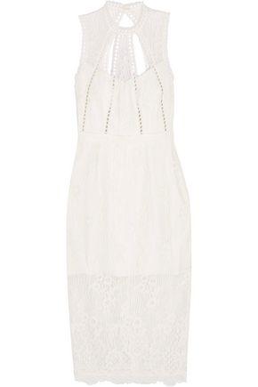 ALEXIS Open-back guipure lace dress