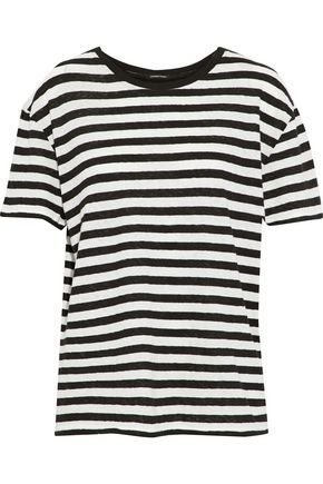 R13 Striped slub cotton-jersey T-shirt